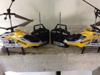 Syma RC yellow 3D Helicopters x2 and 3 battery's and