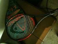 I have three tennis rackets for sale. 2 Head, one XL