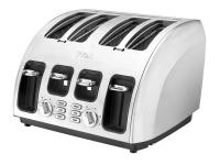 The T-fal Avante Icon 4-Slice Toaster is constructed