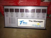 The T-Max Manager is the front desk control unit for