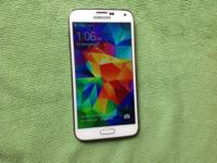 T-Mobile Samsung Galaxy s5 white used phone, phone is
