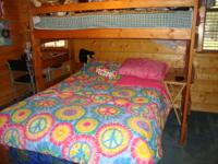 MAPLE-WOOD STAINED - TWIN OVER FULL SIZE BUNK BED