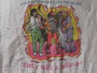 Women on shirt are real Zydeco Musicians Picture says,