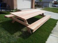 10 FOOT PICNIC TABLE YOU CAN SEAT ABOUT 12 PEOPLE
