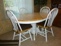 In very good shape table & 4 chairs. Please call Kim