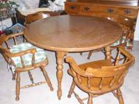 For sale Ethan Allen Hard Rock Maple round table & 4