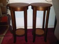 Two night stand / side table / end table Brown color in