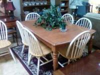 Table & 6 Chairs Good Condition please call me  (Bill)