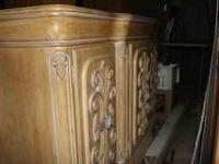Beautiful table, chairs and buffet. It is in storage