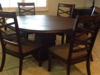 Table,6chairs, and custom magnetic table pads. $800.