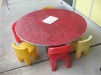Kids love this activity center. Comes with 5 chairs and