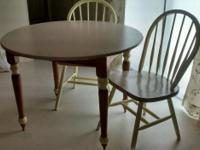 Type: Furniture Oak double drop leaf table an 2