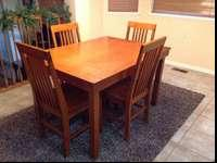Great table set. Table is 36 in. W. by 48 in. L. by 29