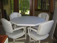 Chromcraft Table and 4 Chairs. Good condition. Table is