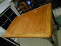 For sale one rectangle (58x38) Kitchen Table with 4