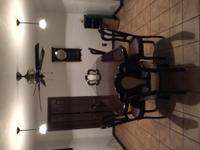 Negotiable Kitchen table ready to go. Table has center