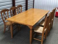 8 ft. dining table and 6 chairs $300.00 Call  for