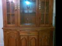 I have this Broyhill table with the Buffet and hutch