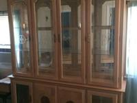 this is a 6-8 person table with large china cabinet