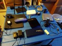 We have a little bit of everything, a Netgear 8 port