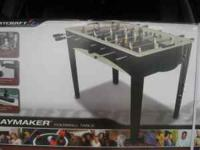 "FOOSBALL TABLE, 48"" LONG, 24"" WIDE, 31"" HIGH. FOR AGES"