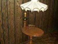 End Table Lamp combination $15.00 Call  if interested