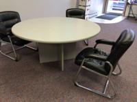 Round Table: 60 inches, Gray really sturdy with six