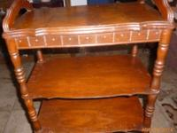 Antique end table, good condition, 24 inches high, 20