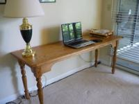 Solid oak table - can be used for computer table, sofa