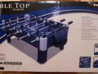 New in the box Sportcraft Table Top Foosball Length