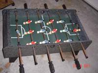 Table top fooseball 37 x 20 x 8. We are in Kissimmee .