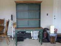 I have a wood table with hutch for sale. Asking $75 My