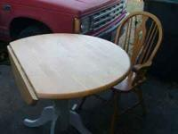 I have a table that bothe the side fold two make round