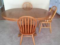 Type: Dining Room Type: Sets Oval table with removable