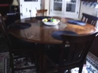 have kitchen table with four chairs. table can be