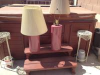 Two table lamps, $50 for the set.   Call email or text