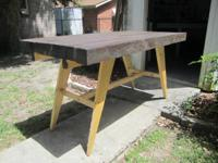 I'm selling a table I made from pallet crates. Very