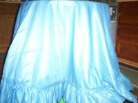 Round blue tablecloth (70 inch)  $3.00 world map shower