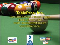 TablePros, Inc. provides all Pool Table Services