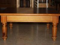 2 knotty pine solid wood tables - coffe table type.