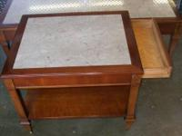 1940 tables wood marble top,living room table from