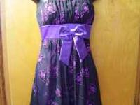 Gently used Taboo brand Black/Purple Sparkle Homecoming
