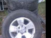 Factory 17' wheels off of a 2008 toyota tacoma. The