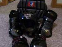 Black ATA sparring gear complete set: Chest gear $15,