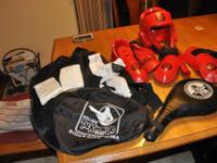 I have two size Taekwondo sparring kits for sale ,small