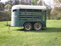 Tag a long stock trailer; factory built; 10 ft. long;