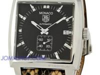 Tag Heuer Monaco Diamond Brown Python Steel Unisex