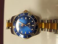 Aquarecer Tag Heuer watch, stainless steel, crystal