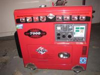 This is a new Tahoe 7000 Generator. When at a