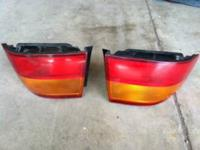 Pair of tail lights.  Not sure what they are off of.